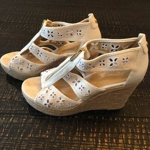 MK White Zip Wedges